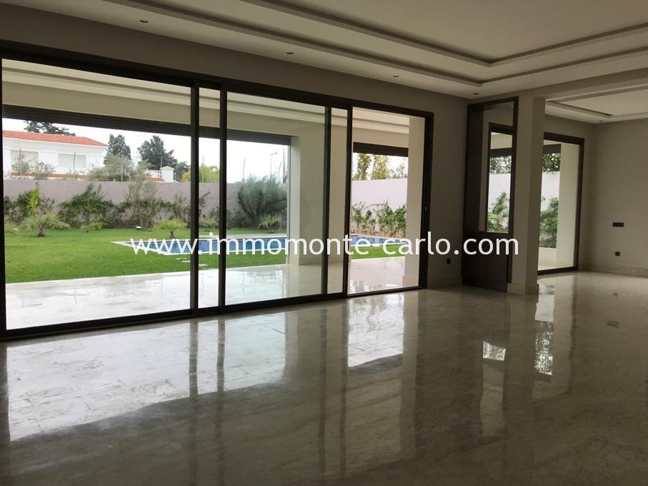 A louer villa neuve moderne à Souissi Rabat :