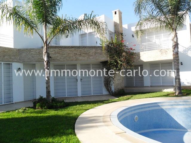 Location villa avec piscine et chauffage centrale à Souissi rabat