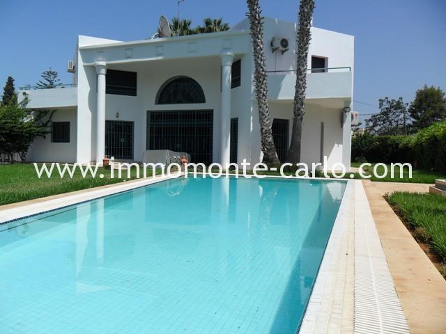 Villa avec piscine à louer au quartier Souissi RABAT