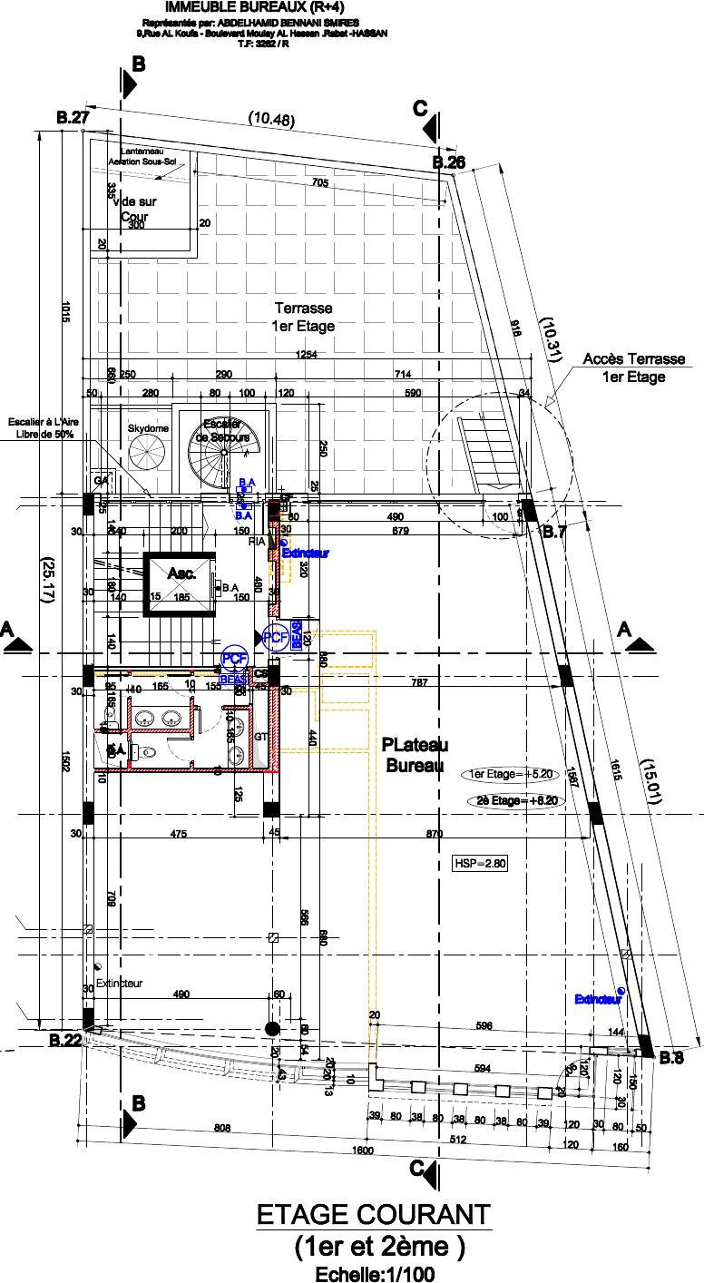 Etage courant(1er et 2ème étage)