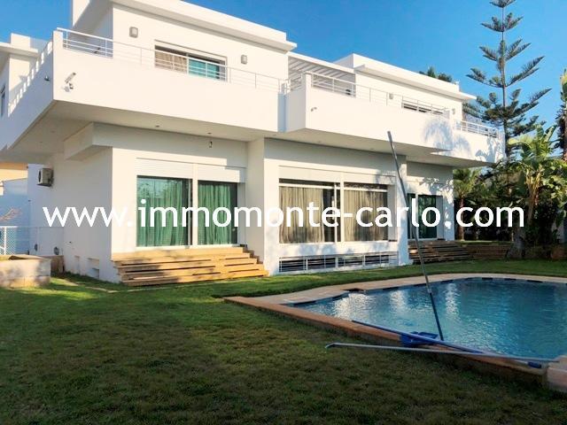 Villa à louer à Rabat Maroc au quartier Souissi
