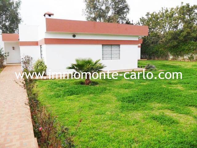 Rabat location d'une villa de plain pied à Souissi