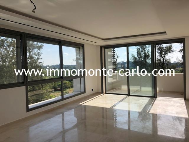 Location appartement avec terrasse sans vis-à-vis  à Rabat Souissi,