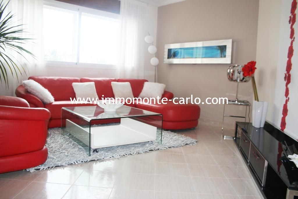 Appartement meublé avec terrasse à louer à Hay Riad Rabat.