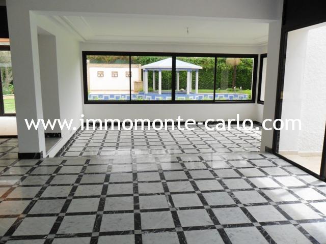 A louer Villa bureau ou habitation Souissi Rabat