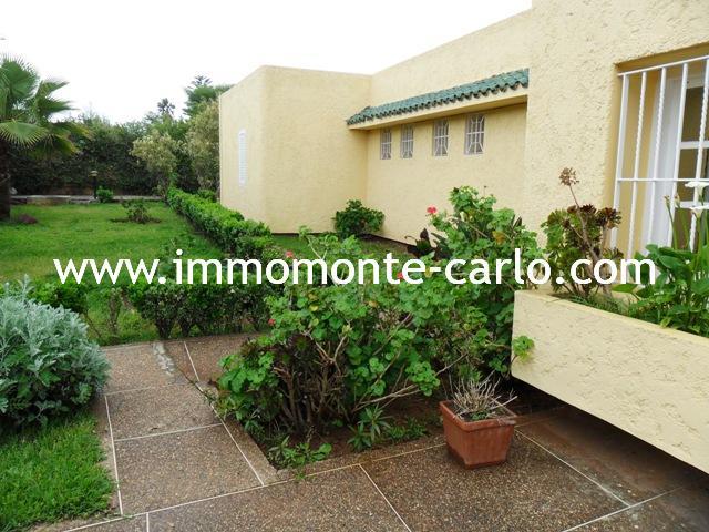 Location à Hay Riad Villa avec chauffage central à Rabat Maroc.
