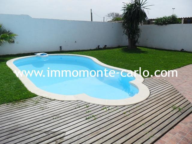 Rabat Location villa meublée ou vide avec piscine de plage à Sid Abed Témara