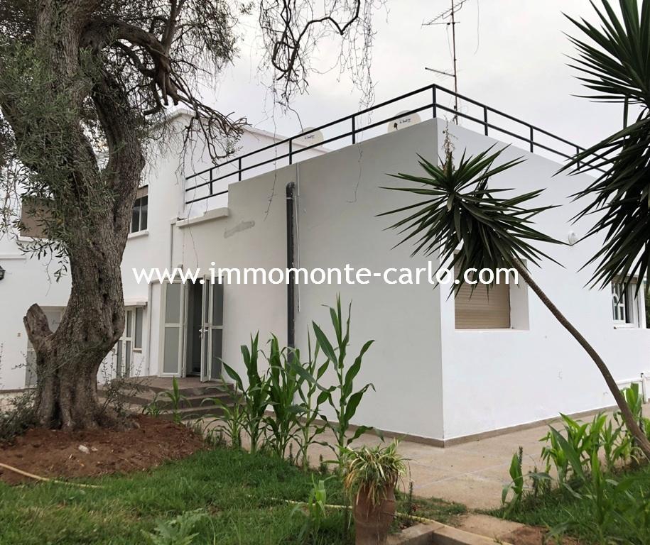A louer villa avec chauffage central à Hassan centre villa ville Rabat
