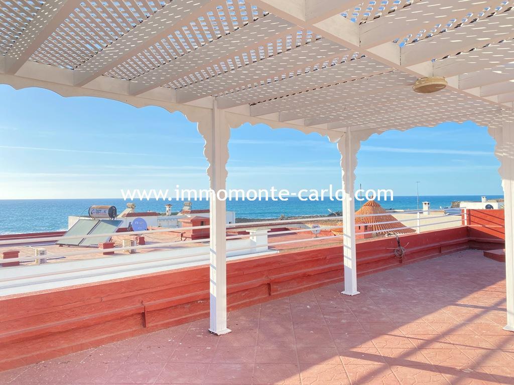 Villa à louer à Harhoura avec une grande terrasse vue sur mer